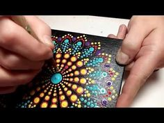 How to paint dot mandalas with Kristin Uhrig-#27 Using a Stencil - YouTube