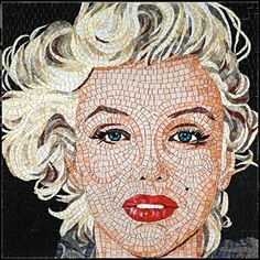 Marilyn Monroe by Sicis, modern art mosaic Caricatures, Sicis Mosaic, Mosaic Portrait, Tuile, Mosaic Artwork, Marilyn Monroe Art, Mosaic Designs, Mosaic Patterns, Glass Mosaic Tiles