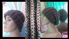 Knitted Hats, Crochet Hats, Youtube, Beanie, Knitting, Fashion, Head Accessories, Hat Crochet, Beanies