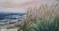 Original Art Drawing Pastel Seagrass by DrawnUpon on Etsy.  This is beautiful!