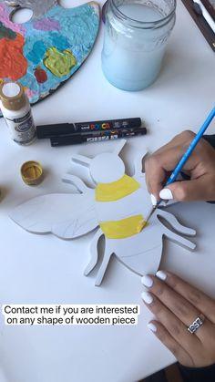 Wood Slice Crafts, Wood Crafts, Fun Crafts, Arts And Crafts, Paper Crafts, Mandela Drawing, Mandala Book, Birthday Card Drawing, Cast Art