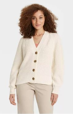 A tortoise-shell button cardigan is a timeless closet staple. This style comes in seven different colors. Keep it as an in-office sweater or carry it in your bag to always be prepared for the autumn chill. #fallfashion #falloutfits #fallsweaters #cutesweaters #southernliving Easy Wear, Knitting Designs, Everyday Look, Classic Looks, New Day, Snug Fit, Long Sleeve, How To Wear, Cotton