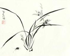 sumi-e orchid - Buscar con Google