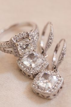 Engagement Rings and #Earrings | See the wedding on SMP: http://www.StyleMePretty.com/massachusetts-weddings/2014/01/24/newport-wedding-at-the-regatta-place/ Deborah Zoe Photography