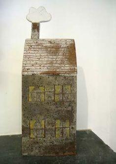 Grey House by Jane Muir, 28 x 9 x 4 cm, £180.