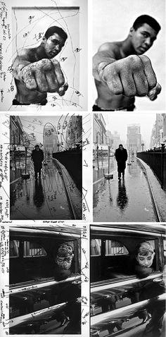 "The work of Pablo Inirio, master darkroom printer of Magnum Photos 1 Thomas Hoepker | ""Muhammad Ali"" 2 Dennis Stock | ""James Dean in Times Square"" 3 Dennis Stock | ""Audrey Hepburn"""