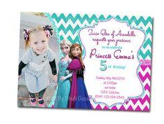 Frozen  Invitations - printable - DIY - digital file (F13)