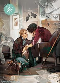"Dr. John Watson helping Sherlock Holmes (as portrayed in the BBC series ""Sherlock"") through some rough, drug-induced times."