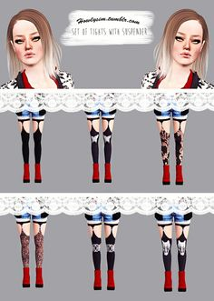 Set of tights with suspender by Howlysim - Sims 3 Downloads CC Caboodle