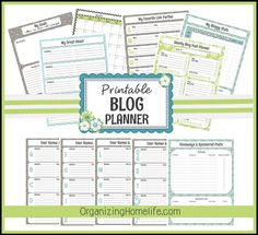 Everything you need to be an organized blogger!