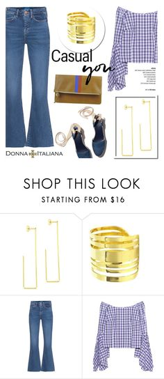 """""""Casual You!"""" by donna-italiana ❤ liked on Polyvore featuring M.i.h Jeans, Petersyn, Clare V., modern, ring, jewelry, earrings, donnaitaliana and hypoallergenicjewelry"""