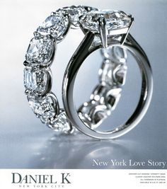 Ok, so I only need 1 diamond ever, but that eternity band is pretty!    Daniel K - Asscher Uternity Set
