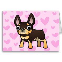 French Bulldog Love (black and tan) Card