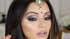 PURPLE CUT CREASE 💜 DIWALI MAKEUP TUTORIAL 2017 ✨ - YouTube