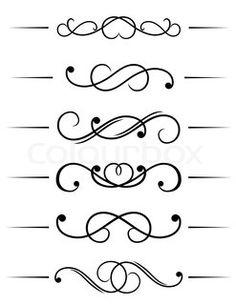 Image of \'Monograms and swirl elements\'
