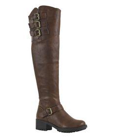 Cognac Chuck Over-the-Knee Boot