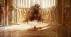 A Song of Ice and Fire/Game of Thrones Iron Throne artwork by Marc Simonetti - Get beautiful Game of Thrones Necklaces on World of Westeros! (tap the link! Fantasy Places, Fantasy World, Fantasy Art, Game Of Thrones Artwork, George Rr Martin, Throne Room, Fantasy Castle, Fire Art, Iron Throne