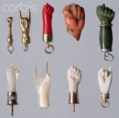 """Mano Cornuto (Horned Hand) The manna cornuto is an Italian amulet of ancient organ. Mano means """"hand"""" and cornuto means horn. The charm represents a hand and horned head or an animal. Worn as a magical protection amulet against """"evil eye'. Victorian Jewelry, Antique Jewelry, Vintage Jewelry, Silver Jewelry, La Danse Macabre, Talk To The Hand, Talisman, Jewelry Accessories, Jewelry Design"""