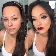 Before x After ❤️🤗 Maquiagem Clássica, que realça e também harmoniza os traços... AMO!!! . . . #makeup #maquiagem #mua #brazilianmua…