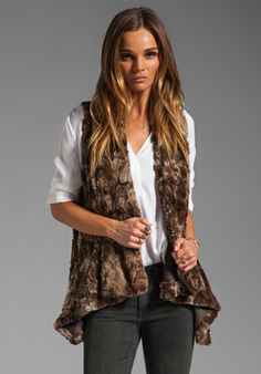 1ae90abade2 BB DAKOTA Leti Tie Dye Faux Fur Vest in Brown at Revolve Clothing - Free  Shipping