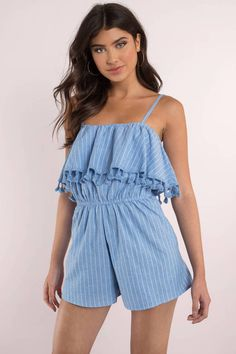 069f5ea1d87b Blair Stripe Tassel Romper at Tobi.com  shoptobi