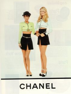 Helena Christensen & Claudia Schiffer for CHANEL, early 90's