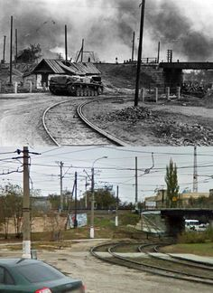 Then and Now WWII: StuG III during the Battle of Stalingrad - August 1942 to February 1943.