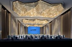 The company specializes in customizing non-standard engineering lighting, and undertakes large-scale non-standard hotel lighting customization. Ceiling Decor, Ceiling Design, Ballroom Design, Function Hall, Lobby Interior, Restaurant Lighting, Ceiling Detail, Hall Design, Hotel Interiors