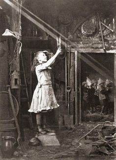 vintage everyday: Cutting a sunbeam, 1886
