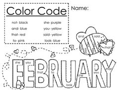 FREE Color by Sight Word Sentences from The Moffatt Girls