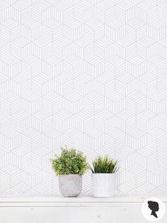 gray cube wallpaper ♡ teaspoonheaven.com