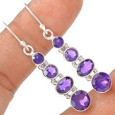 Amethyst 925 Sterling Silver Earring Jewelry EE4570 | eBay