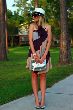 Citrus: Perennial With Winter Lennon Fun color blocked sun dress with floral accent