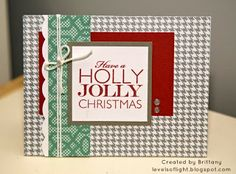 Levels of Light: Holly Jolly Christmas card using CTMH Sparkle & Shine paper packet