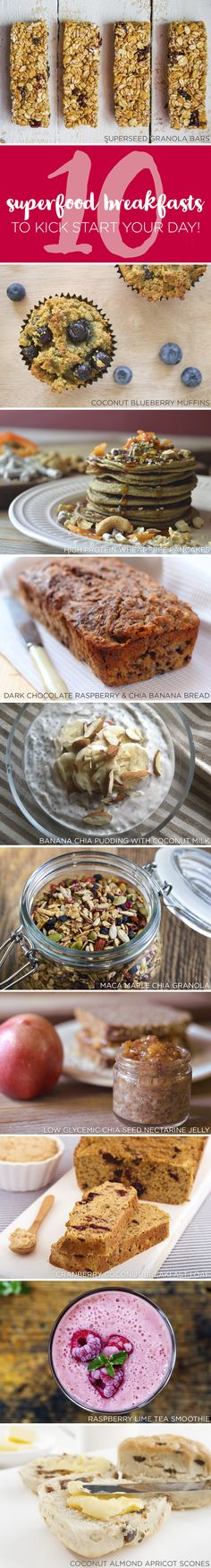 10 Superfood Breakfasts to Kick Start your Day kitchen.nutiva.com
