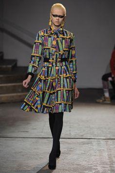 Book print dress.