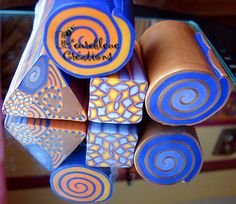 geometrie | by heurebleue Clay Extruder, Sculpey Clay, Polymer Clay Canes, Polymer Clay Projects, Polymer Clay Earrings, Clay Crafts, Biscuit, Fondant, Clay Texture