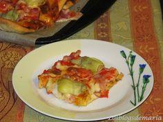 Pizza de alcachofas con masa casera | Comer con poco. cocinayrecetas