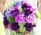 Vintage Romantic Purple & Green Wedding