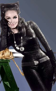 Julie Newmar as Catwoman from the classic 1960s Batman tv series!