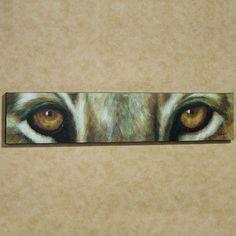 Lion Eyes Canvas Wall Art