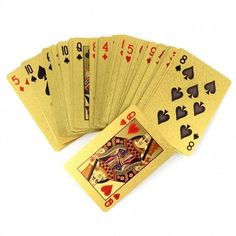New 24K Karat Gold Foil Plated USD Poker Playing Cards