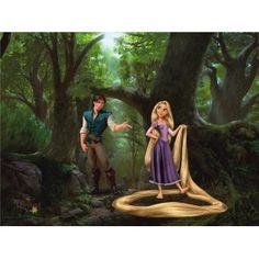 Rapunzel Rapunzel and Flynn L x W 4 Piece Wallpaper Embossed Wallpaper, Wallpaper Roll, Wall Wallpaper, Buy Wallpaper Online, Rapunzel And Flynn, Paradise Garden, Tropical Leaves, Views Album, Wall Murals