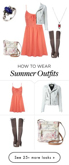 """""""summer outfit 75"""" by adelineojeda on Polyvore featuring Topshop, Hot Topic, Stuart Weitzman, Apt. 9 and Yves Saint Laurent"""