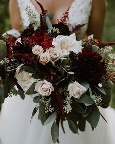 12 Splendid Wedding Bouquets Navy And Maroon Wedding Bouquet Stem Wrap Wedding Flower Guide, Floral Wedding, Wedding Colors, Burgundy Wedding Flowers, Burgundy Bouquet, Maroon Wedding, Our Wedding, Dream Wedding, Rustic Wedding