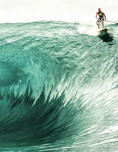Up the wave with a paddle.  Bid wave #surfing