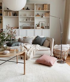 """How to decorate your home """"Feeling First"""" - A mindful interior approach — Hemma Interiors Best Interior, Interior Styling, Interior Design, Söderhamn Sofa, Best Neutral Paint Colors, Pastel Colors, Billy Ikea, Ikea Living Room, Pastel Living Room"""