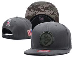 baa094d47 NFL NEW Pittsburgh Steelers Salute to Service New Era Straight Snapback Hat  Steelers Salute To Service