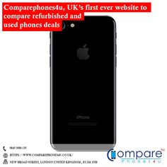UK's first ever website to compare refurbished and used phone deals. Compare Phones, Phone Deals, London United Kingdom, The Unit, Website, Iphone, Food, Meals, Yemek
