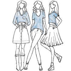 Megan Nielsen Briar sewing pattern - Swing back